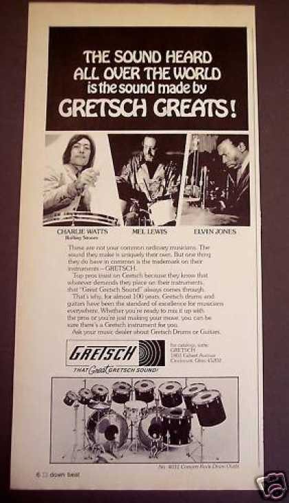 Gretsch Drums Elvin Jones Charlie Watts Music (1977)