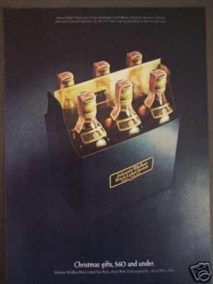 Johnnie Walker Black Scotch Whisky 6 Pack (1970)