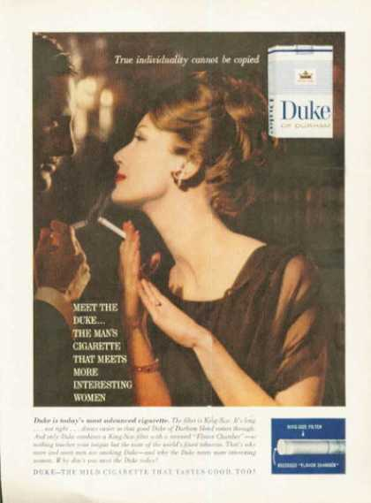 Duke Durham Cigarettes Woman Smoker (1961)