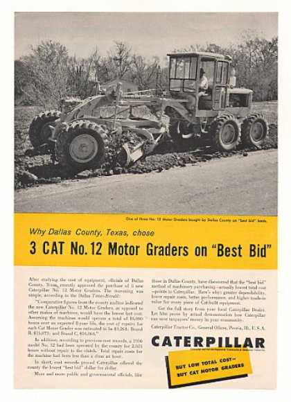 Dallas County TX Caterpillar No 12 Motor Grader (1960)