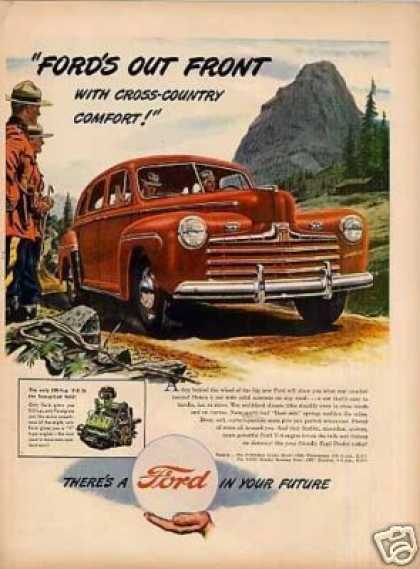 "Ford Car Ad ""Out Front With Cross-country.. (1946)"