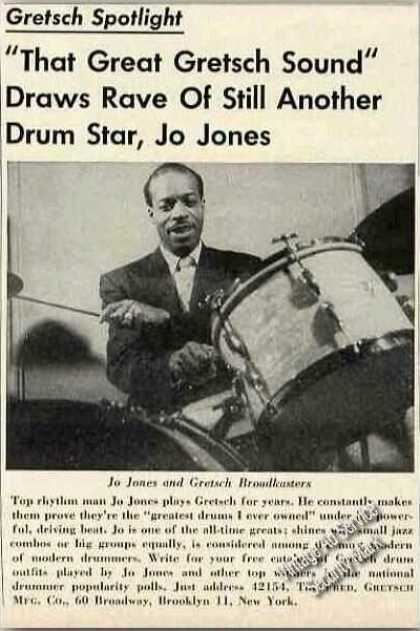 Jo Jones Photo Gretsch Drums (1954)