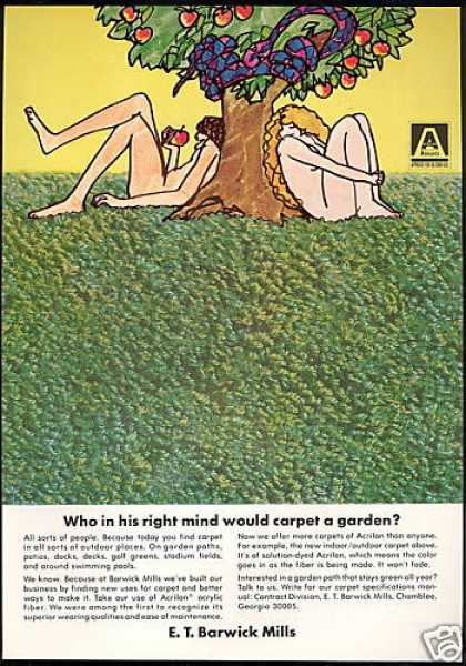 Adam & Eve E.T. Barwick Mill Carpet (1969)