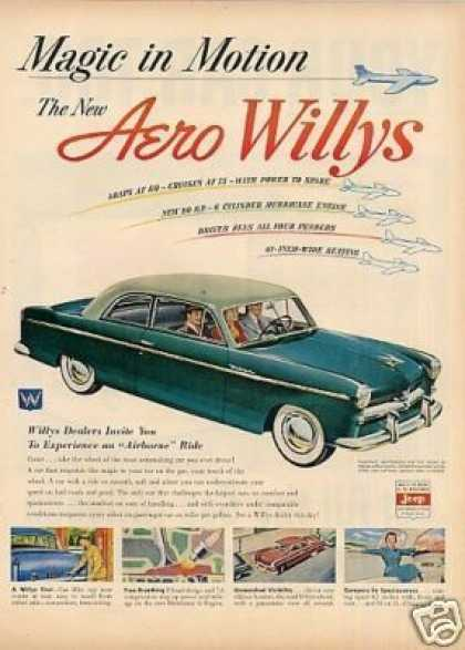 "Willys Aero Car Ad ""Magic In Motion.. (1952)"