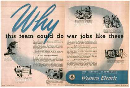 Western Electric's corporate ad – Why this team could do war jobs like these (1946)