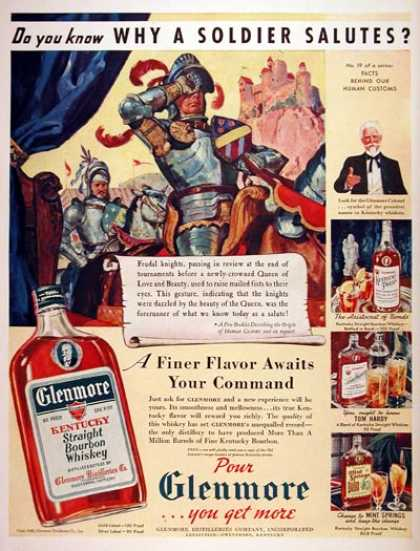 Glenmore Bourbon Whiskey (1940)