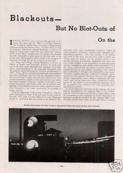 """Blackouts – But No Blot-outs On the Sp"" Article (1942)"