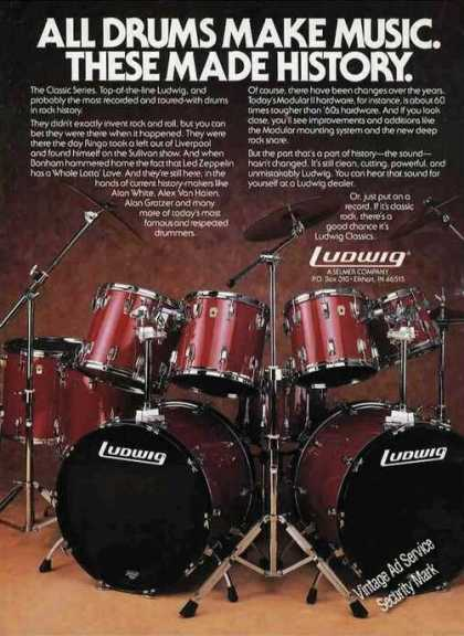 Ludwig Classic Series Drums Photo (1987)