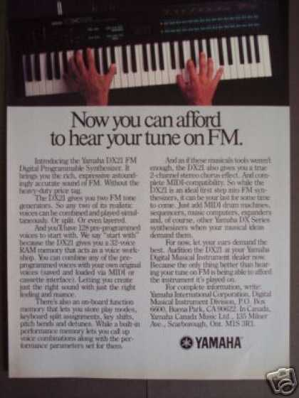 Yamaha Dx21 Fm Electric Piano (1986)