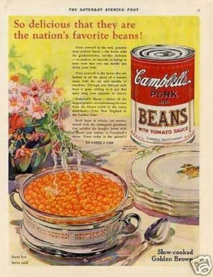Campbell's Pork and Beans Color (1931)