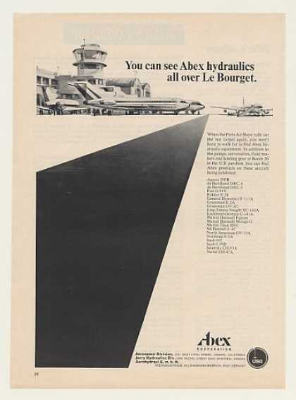 Abex Hydraulics Le Bourget Paris Air Show (1967)