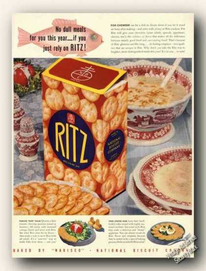 Ritz Crackers Large Antique Color (1941)
