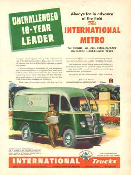 International Trucks – Green Metro Truck – Sold (1949)