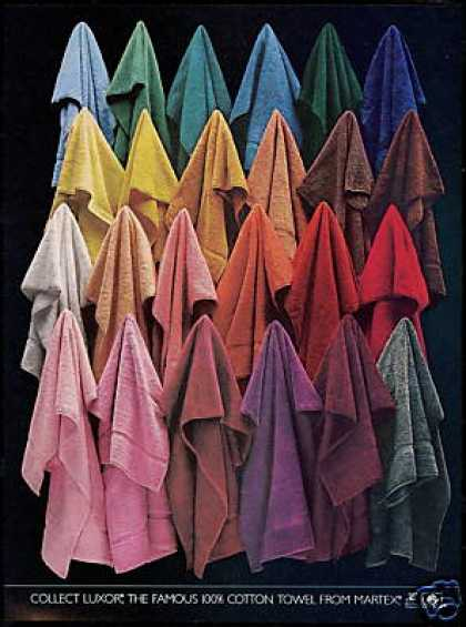 Colored Luxor Martex Towel Photo (1981)