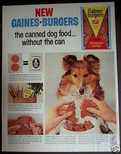 Gaines Burgers Dog Food Collie Dog (1963)