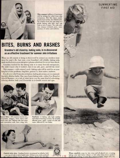 Church and Dwight Co.'s Cow Brand or Arm & Hammer Baking Soda – Bites, Burns and Rashes (1958)