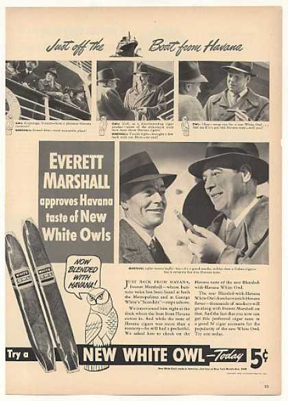Everett Marshall Havana White Owl Cigars (1940)