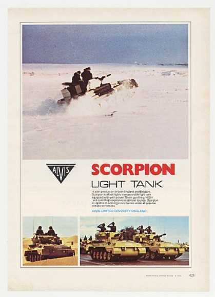Alvis Scorpion Light Tank Photo (1976)