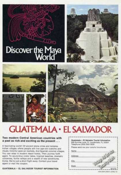 Discover the Maya World Guatemala El Salvador (1973)