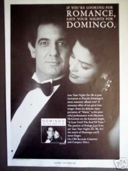 Placido Domingo Photo Record Album Promo (1985)