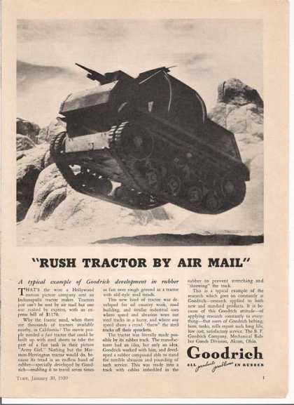 Rush Tractor By Air Mail Goodrich (1939)