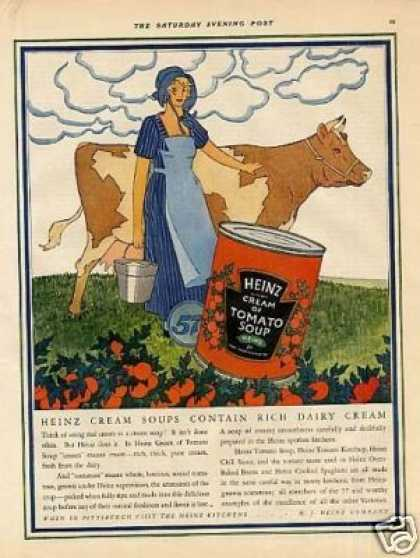 Heinz Cream of Tomato Soup Color (1925)