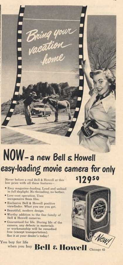 Bell & Howell Movie Camera (1950)