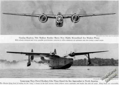 Us Navy Patrol Bomber Magazine Photo (1940)