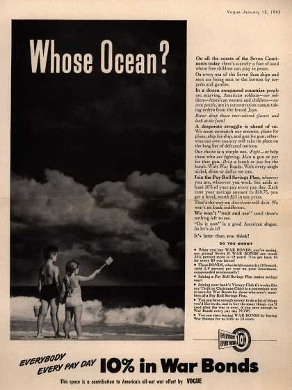U. S. Government's War Bonds – Whose Ocean? (1943)