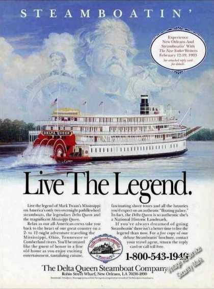 "Delta Queen Steamboat Art ""Live the Legend"" (1992)"