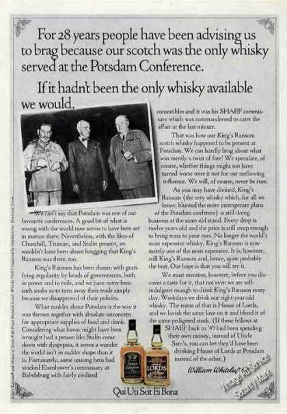King's Ransom Scotch Potsdam Conference Story (1973)