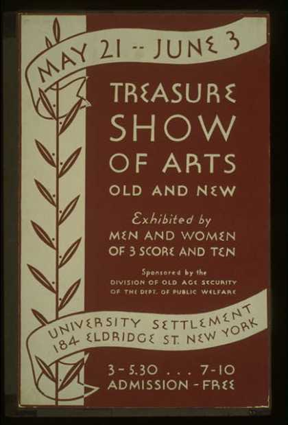 Treasure show of arts old and new – Exhibited by men and women of 3 score and ten. (1936)