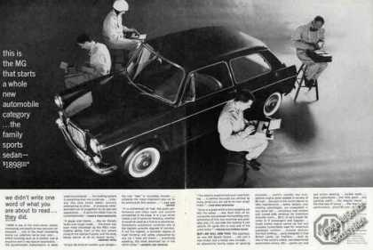 Mg Family Sports Sedan Large 2 Page Photo (1963)