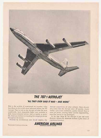American Airlines 707 Astrojet Jet Photo (1961)