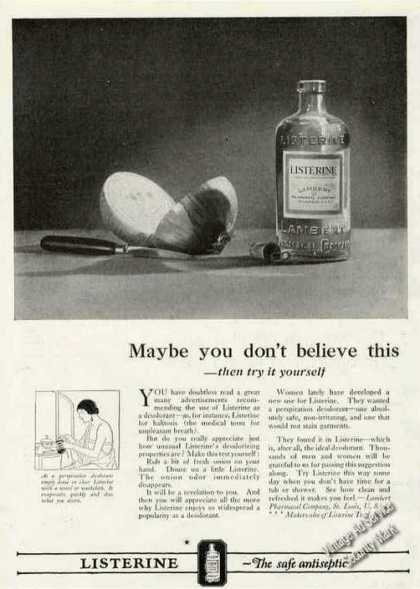 Listerine the Safe Antiseptic Antique (1924)