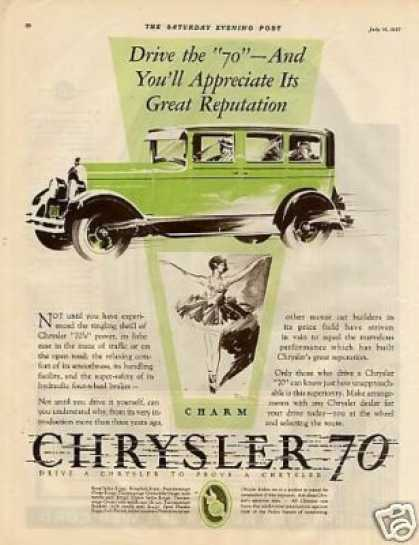 "Chrysler ""70"" Car Color (1927)"