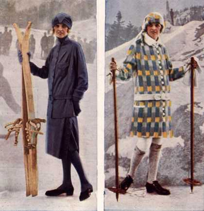Womens Skiing Skis Ski Wear, UK (1920)
