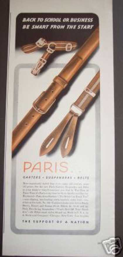 Original Paris Garters Suspenders (1942)