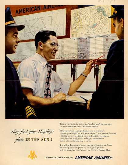 American Airlines – They Find Your Flagship's Place in the Sun (1950)