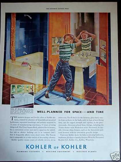 Kohler Fixtures Retro Bathroom Decor (1948)