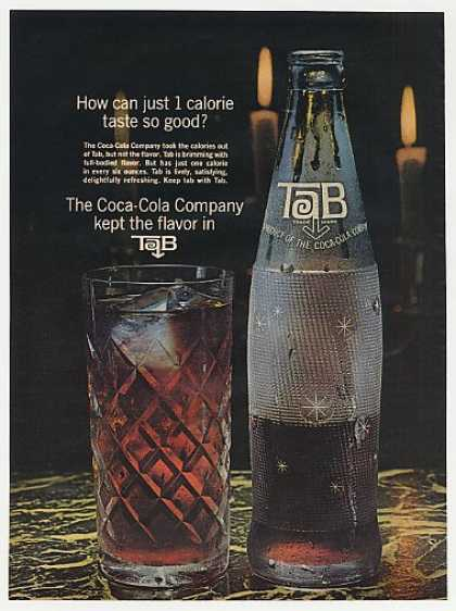 Tab Cola Bottle & Glass Photo (1964)