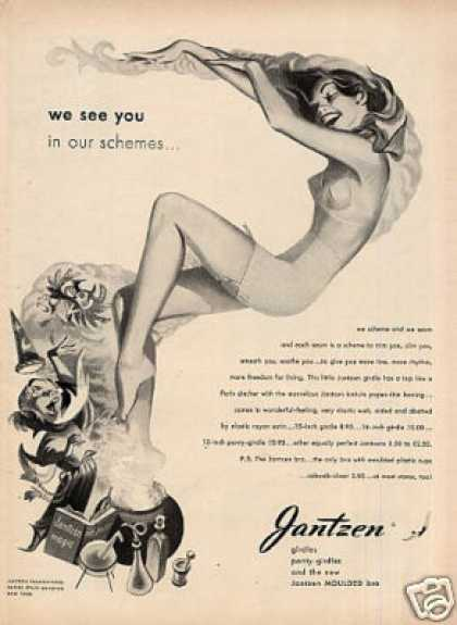 "Jantzen Girdle Ad ""We See You On Our Schemes... (1948)"