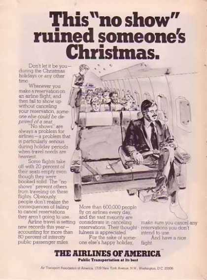 Air Transport Association Christmas – No Show (1977)