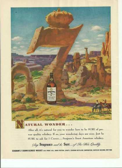 Natural Wonder Seagrams 7 Whiskey (1948)