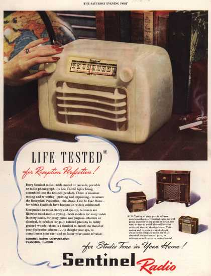 Sentinel Radio Corporation's Various – Life Tested for Reception Perfection (1946)