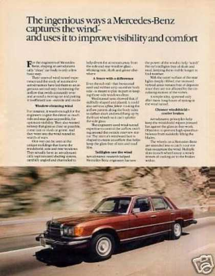 Mercedes-benz Car Ad 2 Page (1979)