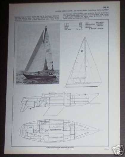 Jensen Marine Cal 39 Sailboat Boat Spec Page (1971)