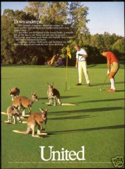 Golf Down Under Kangaroo United Airlines (1987)