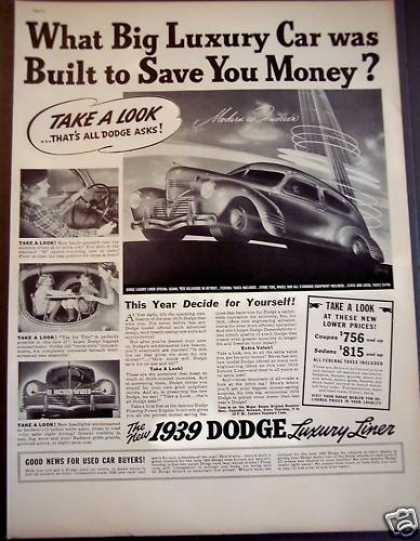 Dodge Luxury Liner Special Sedan Car (1939)