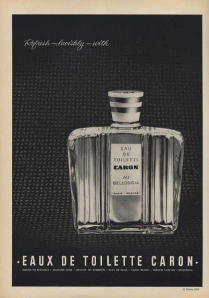 Eaux De Toilette French Caron Bottle (1962)